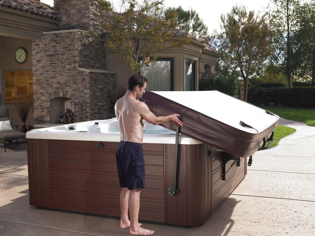 Caldera prolift iii used hot tubs canada - Hot tub cover lift with and without gas shocks ...